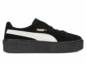 sports shoes ce2ca cc788 Details about Rihanna x Puma Suede Creepers Fenty 361005-01 Black Star  White Women & Men sizes