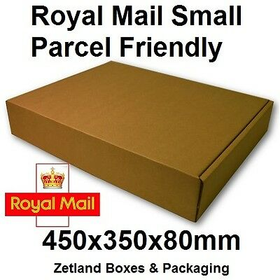 20 Royal Mail Small Parcel 450x350x80mm Strong Cardboard Boxes Postage Packing