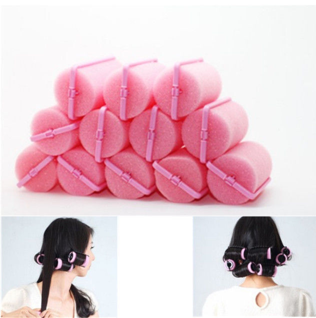 12Pcs Magic Sponge Foam Cushion Hair Styling Rollers Curlers Twist Tool  hot