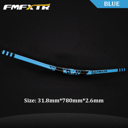 31.8mm MTB//DH Bike Handlebar 780mm Riser Bar 10 Degree 2.6mm Thick Aluminum UK