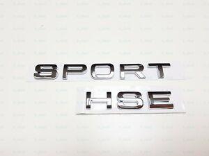 NEW Matte Black 3M LETTERS SPORT HSE TRUNK TAILGATE NAMEPLATE LOGO RANGE ROVER