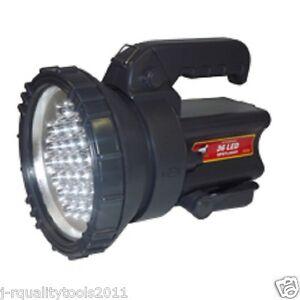 big led battery operated rechargeable hand spot light lamp spotlight flashlight ebay. Black Bedroom Furniture Sets. Home Design Ideas