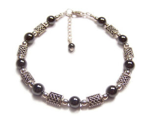 Sterling-silver-Hematite-celtic-bracelet-knotwork-Haematite-gemstone-gem-stone