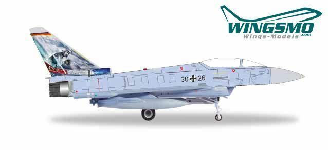 Herpa Wings fuerza aérea Eurofighter Typhoon-taktlwg 74  Bavarian tigre  - OTAN