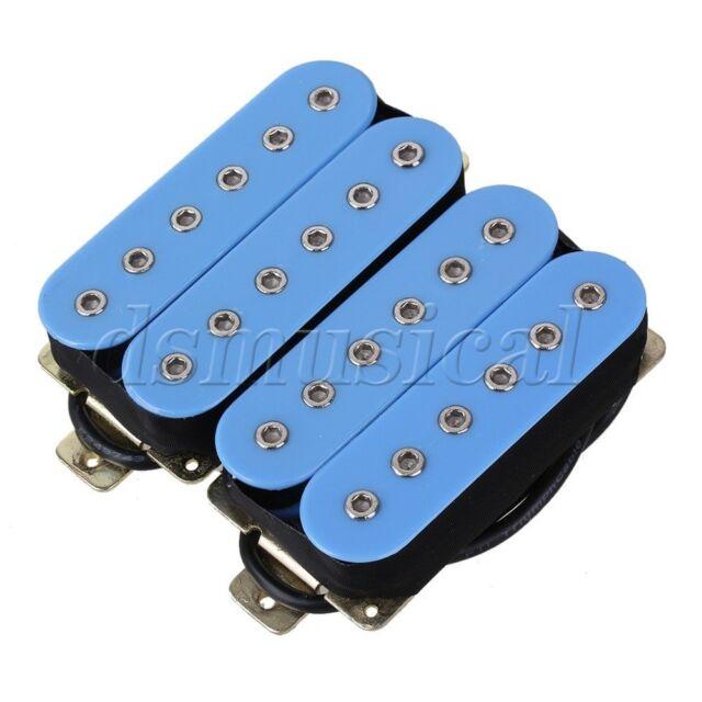 Light Blue High Output Guitar Humbucker Double Coil Pickup Set ...