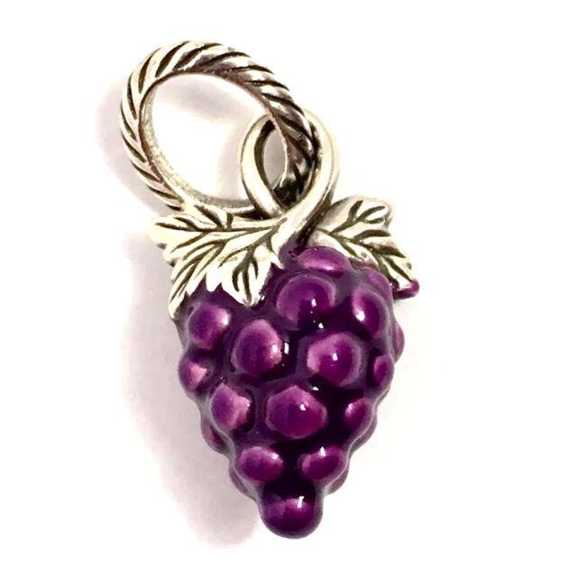Brighton Grapeful Bunch Charm, JC1351, Purple Enamel Finish, New