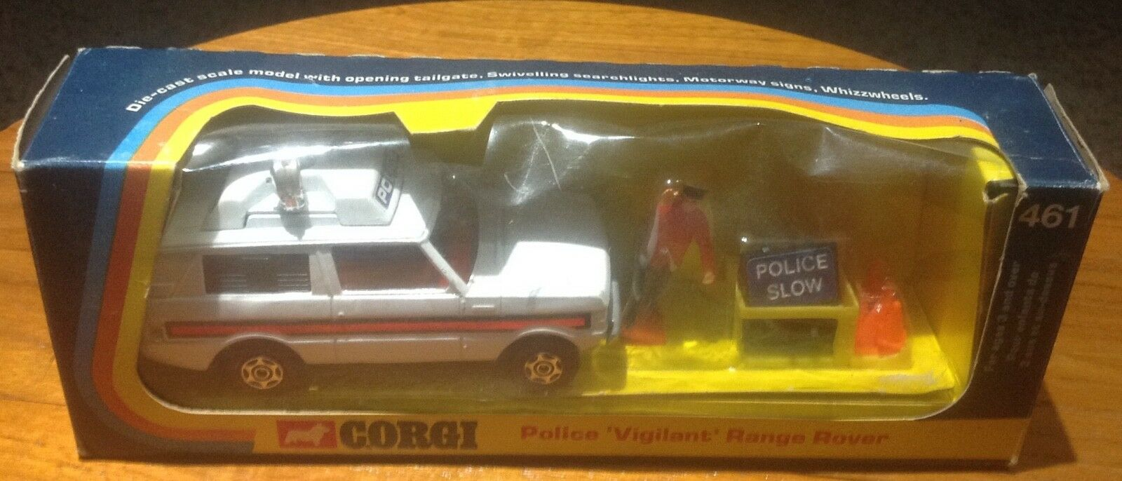 Corgi 461 Police Range Rover Getting Rare To Find Original Box.