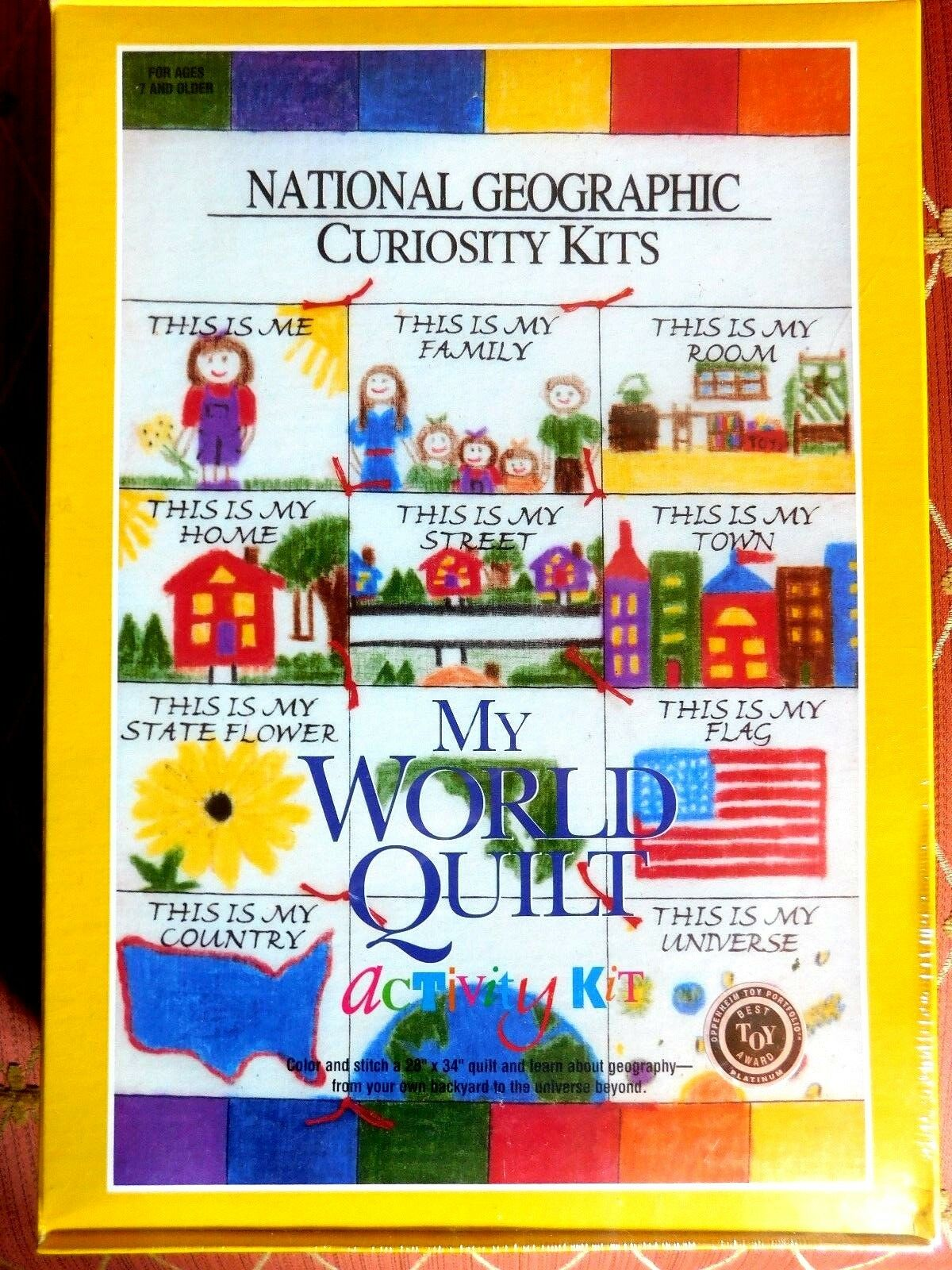 National Geographic Curiosity Kits My World Quilt Activity Kit