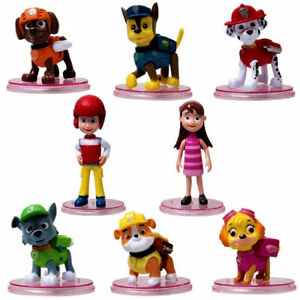 8x Paw Patrol Action Figure Figurine Chien Chiot Rescue Character Toys cake topper  </span>