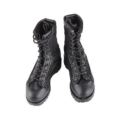 "1//6 Scale Male Black Boots Hollow Combat Shoes Model Fit 12/"" Action Figure"