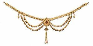 Ausdrucksvoll Art Und Weise Kamar Bandh Gold Überzog Bauchkette Frauenparteiabnutzung