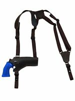 Barsony Brown Leather Horizontal Shoulder Holster Rossi Navy Arm 4 Revolver