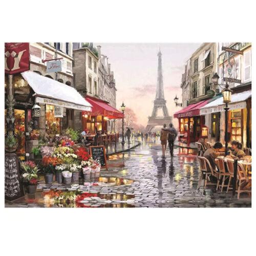1000 Piece Large DIY Jigsaw Puzzle Paris Flower Street 70X50 CM Decompress Toys