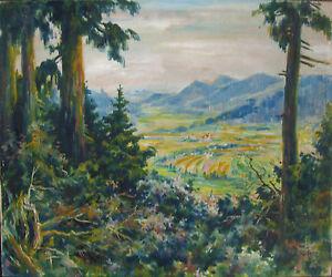 ::CHARLES ANTOINE FRANTZ *1889 WEILERTAL LANDSCHAFT ÖLGEMÄLDE LANDSCHAFT LZ1
