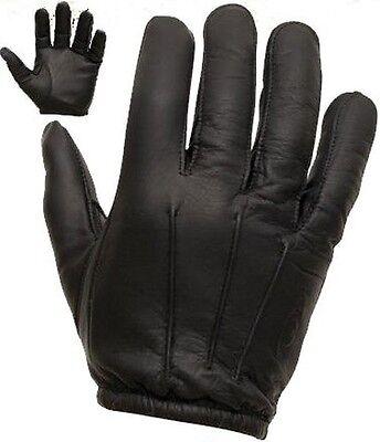 Sable Rempli Enforcer sécurité fait avec Kevlar Anti Slash Gants en Cuir Noir