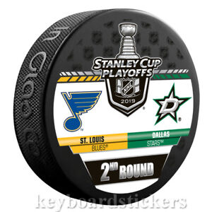 St. Louis Blues vs Dallas Stars 2019 Stanley Cup Playoffs Round 2 Hockey Puck