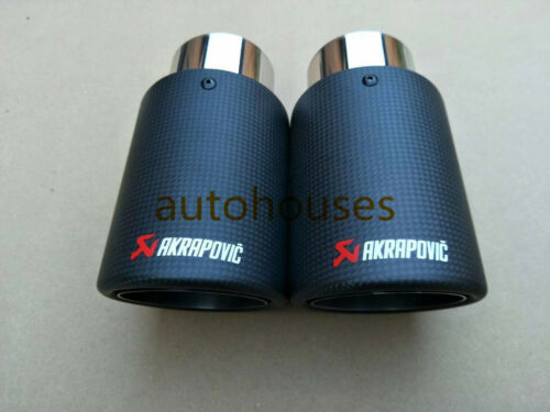 "1Pcs ID:2.5/""63mm OD:4.5/""114mm AKRAPOVIC Exhaust Tip Muffler Pipe Carbon Fiber"