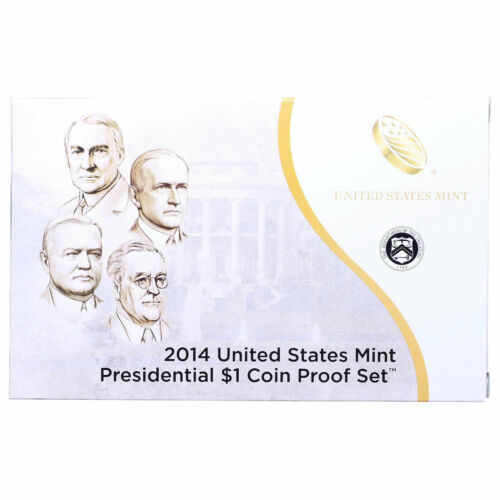 Empty Packaging Replacement Proof Presidential Dollar Set Box No Coins 2014