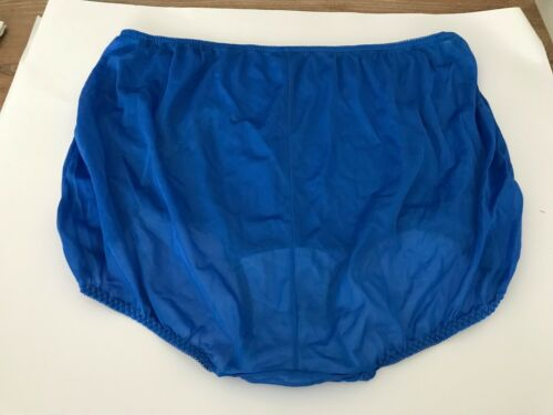 9X 2 Ventura Nylon Brief Panties w// Applique Blue /& Pink Plus Size 15