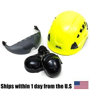 Petzl Vertex Best Hi-Viz Yellow Helmet Visor Ear Muffs Kit A10BBC A15AS