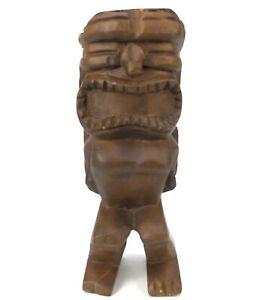 Vintage Figa Fist Hand Carved Wood Good Luck Sculpture Figurine Fertility