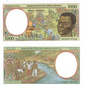 CONGO 1000 Central African Francs (2000) P-102Cg UNC Banknote