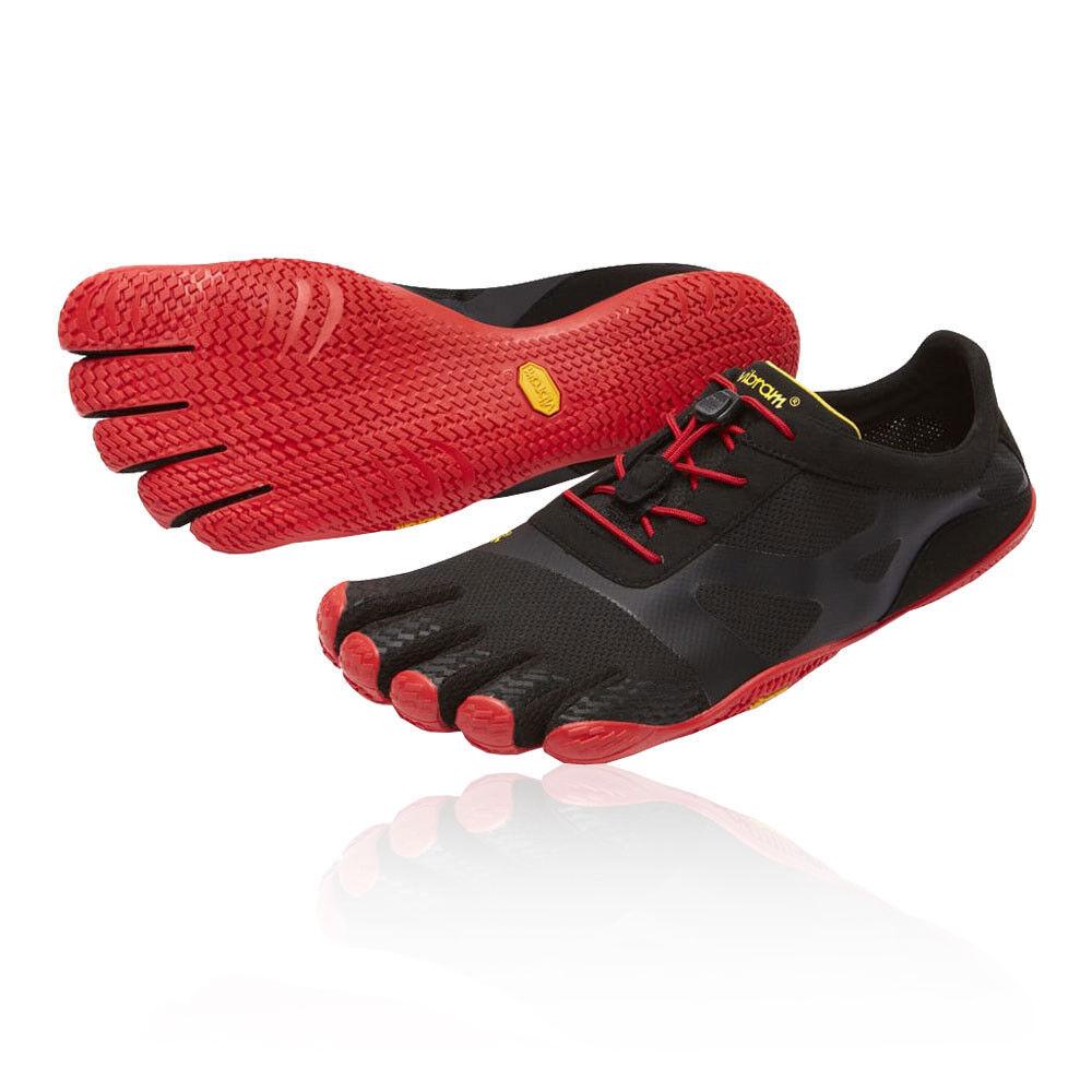 Vibram Para Hombre FiveFingers KSO EVO Entrenamiento Gimnasio Fitness Zapatos Negro Rojo Zapatillas