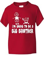 I'm Going To Be Big Brother Funny Boys T-Shirt Baby Birthday Gift Age 1-13