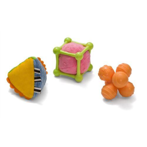 NEW NIB Infantino Multi Sensory Shapes Set BPA FREE 3 FAN SHAPES toys