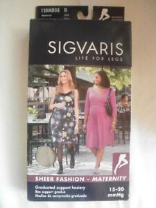 Sigvaris D Fashion Maternity Sheer Collant 120md33 Natural 20 Size 15 rrqfwA