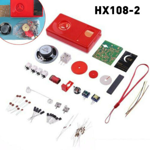 Set Radio Electronic Red Equipment Supplies Components Learning HX108-2