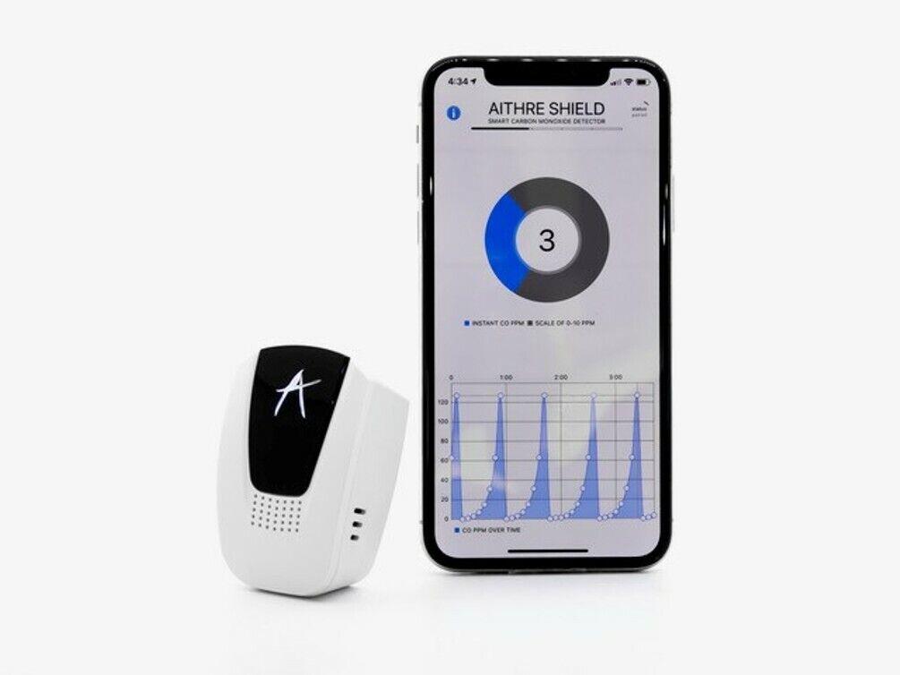 Escudo aithre 4.0 portátil Detector de monóxido de carbono con aplicación iOS