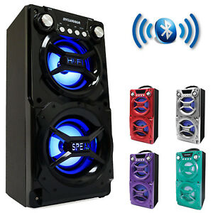 Party-Speaker-System-Bluetooth-Big-Led-Portable-Stereo-Light-Up-Tailgate-Loud