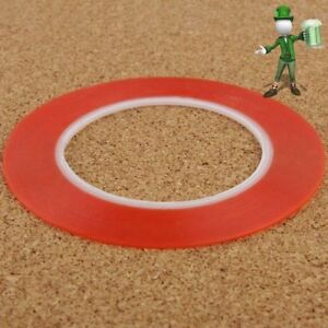 2mm-Double-Sided-Super-Sticky-Tape-Red-Strong-Craft-DIY-Roll-Adhesive