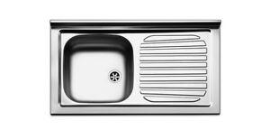 Lavello lavandino cucina inox appoggio da mobile cm 90 x 50 ala Dx ...