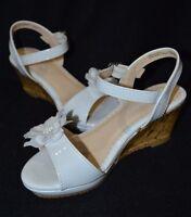 Nine West Girls Elevate Wedge White Sandal - Size 13