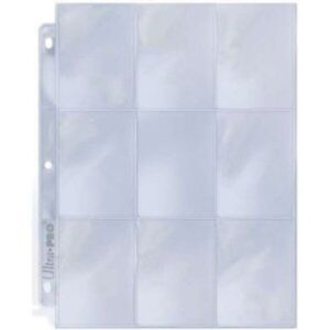 ULTRA-PRO-Trading-Card-Plastic-9-Pocket-Page-Sleeve-x10-NEW-silver-series