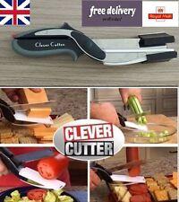 Cibo Chopper 2-in - 1 Knife & Taglio Bordo Forbici strumenti per le verdure frutta