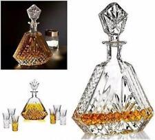 Dublin Crystal Decanter Whiskey Liquor Wine Bourbon Triangular Bar Clear 610 ml
