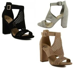 f33acbf8cafc Image is loading Delicious-Cut-Out-Design-Front-Block-Heel-Inflow-