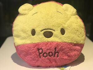 Brand-New-Winnie-The-Pooh-Pink-Fluffy-Cushion-Disney-Rare-Japan
