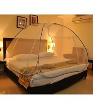 NEW NO MOS Double Bed Foldable Mosquito Net - White (ADJUSTABLE SIZE)