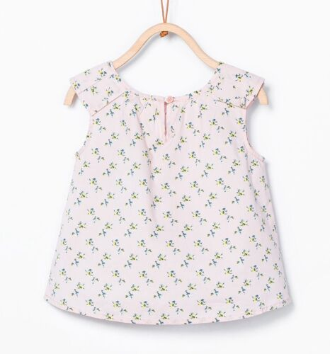 Different Size To Choose ZARA Baby Girls Pleated Detail Top