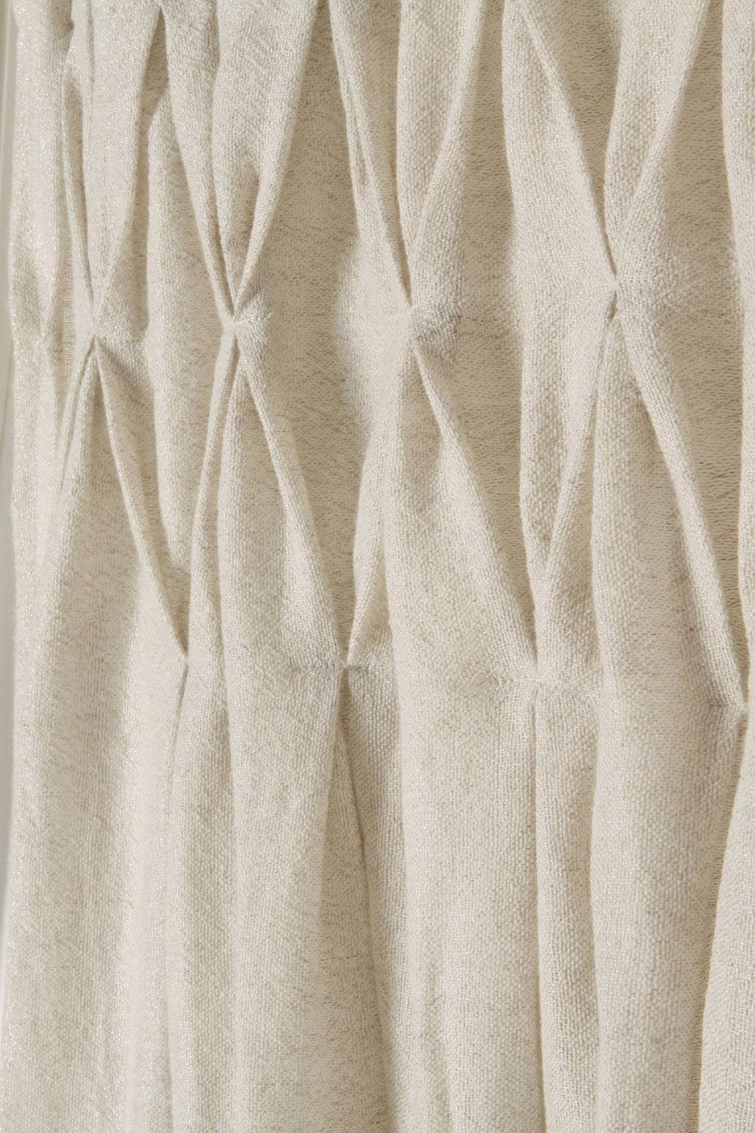 Anthropologie Curtain Panel Neutral Shimmering Wool Linen Linen Linen ONE PANEL, 50  x 63  9c55c0