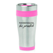 dexam mighty mugs go travel red stainless steel non spill mug 16oz