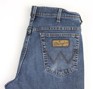 Wrangler-Hommes-Texas-Extensible-Slim-Jeans-Jambe-Droite-Taille-W36-L30-AVZ879