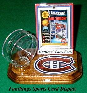 Montreal-Canadiens-NHL-Sports-Card-Display-Hockey-Puck-Holder-Logo-Gift