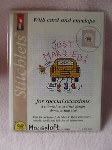 Just To Say.. Stitchlet With card /& Envelope by Mouseloft