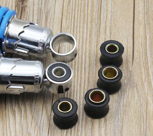 8 x 10mm Motorcycle Rear Shock Absorber Rubber Bush Bike Bullet Spare Part