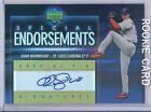 Adam Wainwright 2006 UD Special Endorsements Rookie Auto Cardinals Autograph